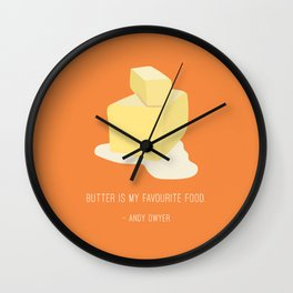 Andy Loves Butter Wall Clock