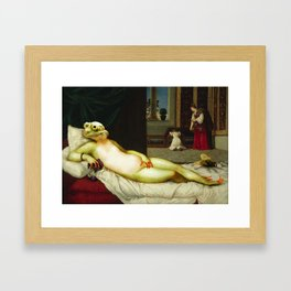 Frog of Urbino Framed Art Print