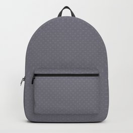 Pantone Lilac Gray Tiny Polka Dots Symmetrical Pattern Solid Color Backpack