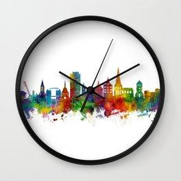 Rostock Germany Skyline Wall Clock