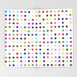 Big Hirst Polka Dot Throw Blanket