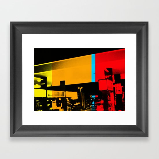 Aberration Station Framed Art Print