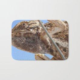 Close Up Of A Climbing Chameleon Bath Mat