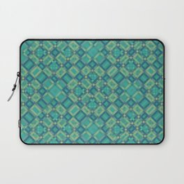 EMERALD cubic green prisms in abstract repeat pattern Laptop Sleeve