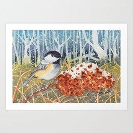 Marshland Chickadee Art Print