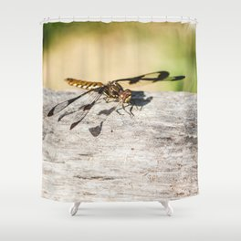 Hello Dragonfly Shower Curtain