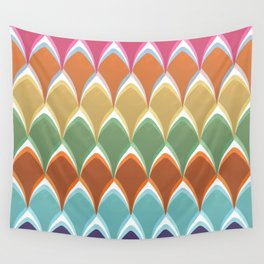 Multicolor Pearlwaves Wall Tapestry