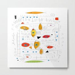 Fish Sticks Metal Print