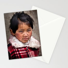 Young Nepalese Girl  Stationery Cards