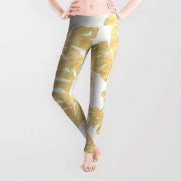 Delicate Monstera Golden #society6 Leggings