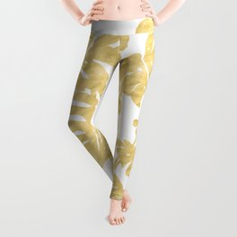 Delicate Monstera Golden #society6 Leggings