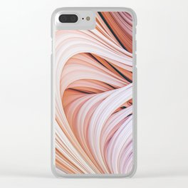 Stranded Strain 2. 3D Abstract Art Clear iPhone Case