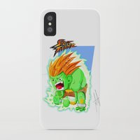 street fighter iPhone & iPod Cases featuring STREET FIGHTER - BLANCA by mirojunior