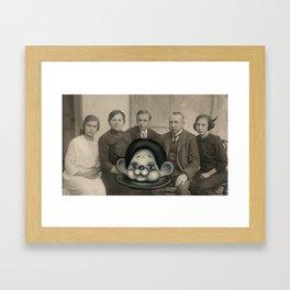 Pop Surreal Repainted Vintage Photo in Oil Paint Framed Art Print