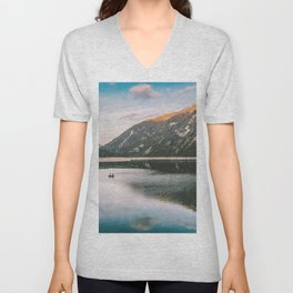 Mountain Lake Unisex V-Neck