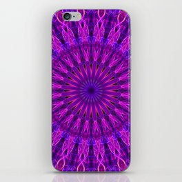 Pretty violet and pink mandala iPhone Skin