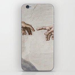 THE CREATION OF ADAM - MICHELANGELO iPhone Skin
