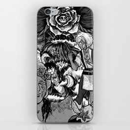 The Deadly Legend of the Blue Rose iPhone Skin