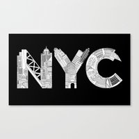 nyc Canvas Prints featuring NYC  by Robert Farkas
