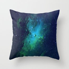 Vibrant Cortex Throw Pillow