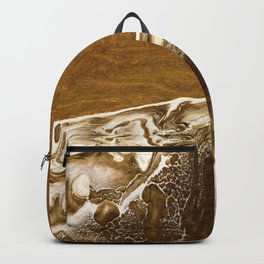 Abstract Acrylic Sand Backpack