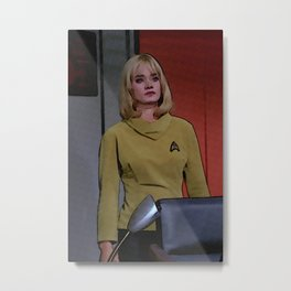 Yeoman Smith from 2nd TOS pilot episode Metal Print