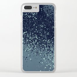Sparkling Blue Summer Night Lady Glitter #3 #shiny #decor #art #society6 Clear iPhone Case