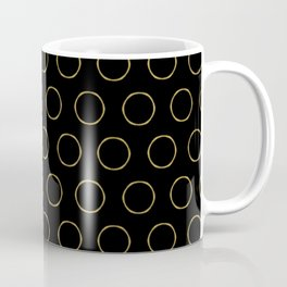 RING - gold on black #society6 Coffee Mug