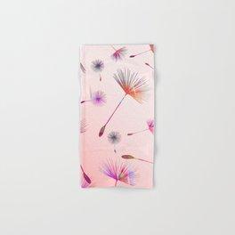 Festive Colorful Dandelions Design Hand & Bath Towel