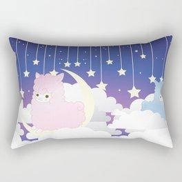 Night Sky Alpacas Rectangular Pillow