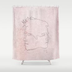 One line Fight Club Shower Curtain