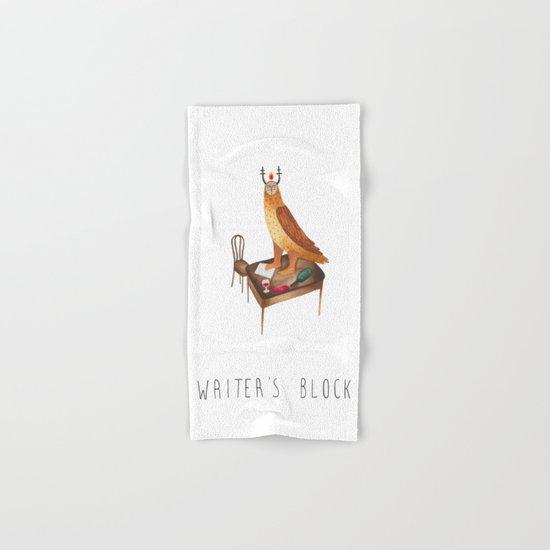 Writer's block Hand & Bath Towel