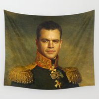 replaceface Wall Tapestries featuring Matt Damon - replaceface by replaceface