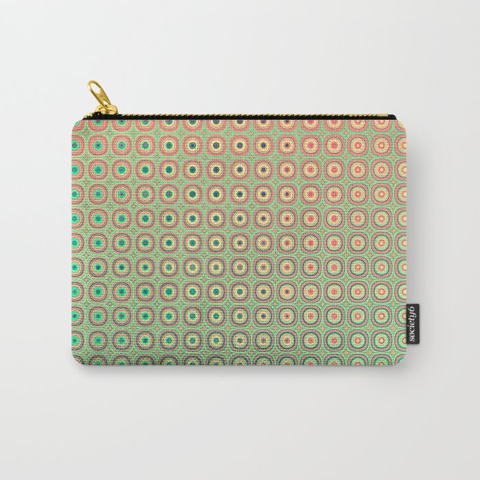 Shiny buttons retro pattern Carry-All Pouch