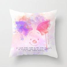Always Forever - Piglet Throw Pillow