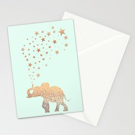 ELEPHANT - GOLD MINT Stationery Cards