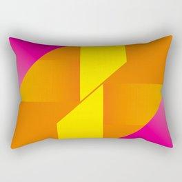 Sunny Morning In Malibu - Vintage Retro Abstract Rectangular Pillow