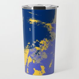 Colorful Abstract Retro Art Pattern - Hisayo Travel Mug
