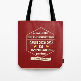 Success is impossible Lou Holtz Sports Player Tote Bag