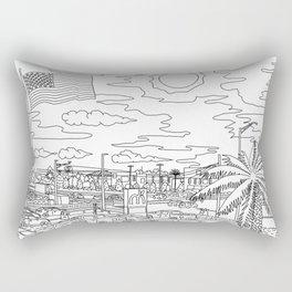 Orlando Sunrise - Line Art Rectangular Pillow