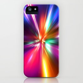 acceleration speed motion on night road iPhone Case