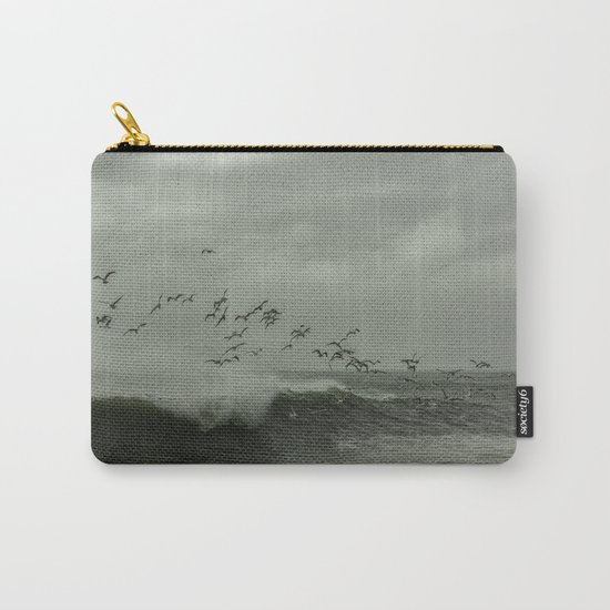 Birds dancing in the waves Carry-All Pouch