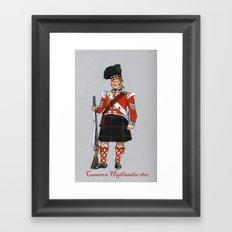 Cameron Highlander 1810 Framed Art Print