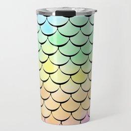 Ombre Rainbow mermaid Travel Mug