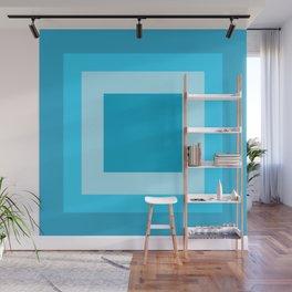 Sea Blue Square Design Wall Mural
