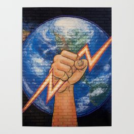 Earth Power (Mural at Battery Land, Gainesville FL Poster