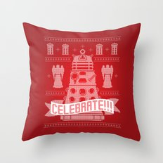 DAL-ECK The Halls Throw Pillow