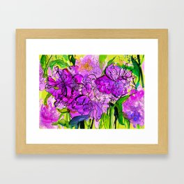 Summer Peonies Framed Art Print