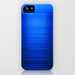 Sunset on the Water-Deep Blue iPhone Case