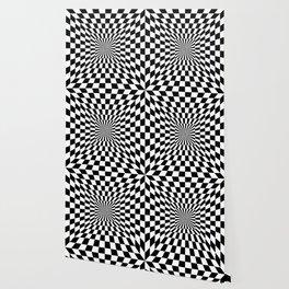 Optical Illusion Hallway Wallpaper